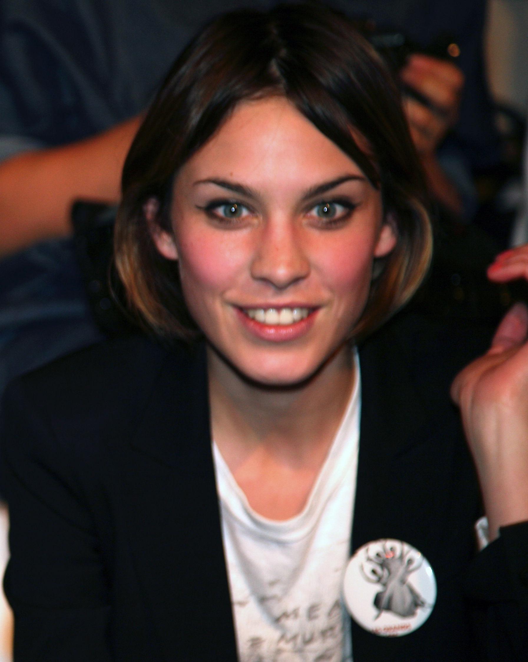 Photo of Alexa Chung: English television presenter, model and contributing editor at British Vogue