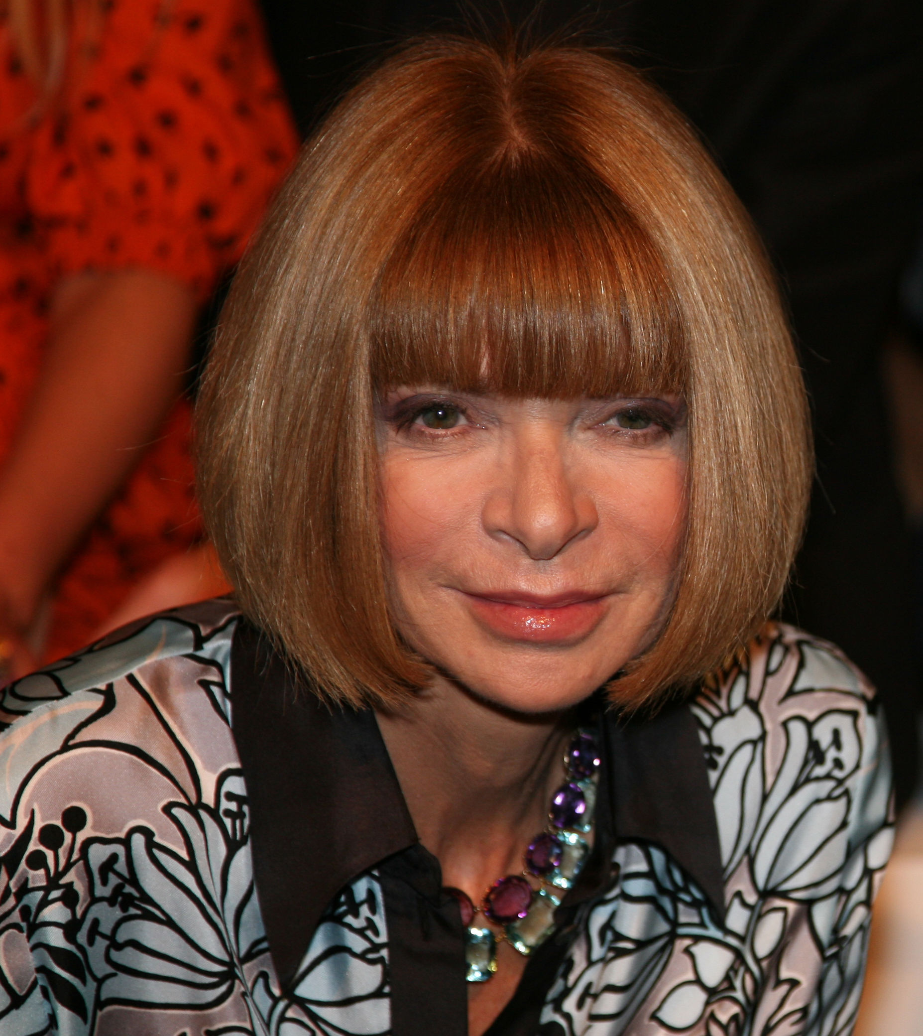 Photo of Anna Wintour: English editor-in-chief of American Vogue