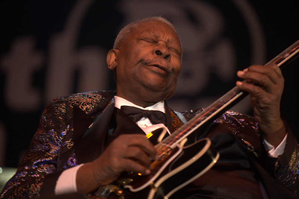Photo of B.B. King: American blues musician, singer, songwriter, and guitarist