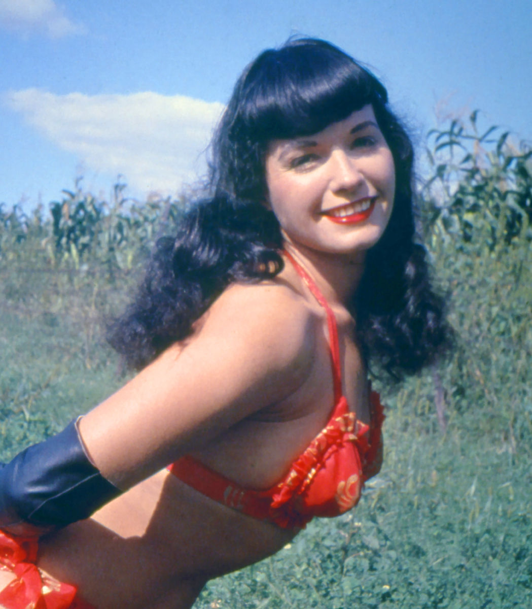 Photo of Bettie Page: Bettie Mae Page (April 22, 1923 – December 11, 2008) was an American model who became famous in the 1950s for her pin-up photos.