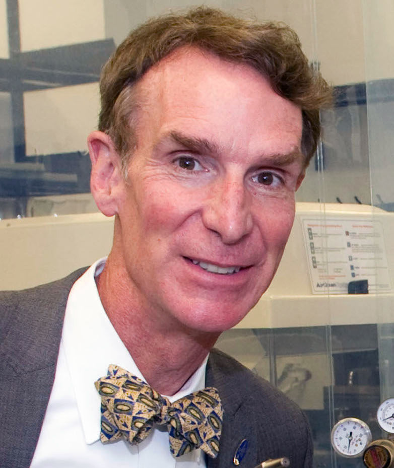 Photo of Bill Nye: American science educator, comedian, television host, actor, writer, scientist and former mechanical engineer