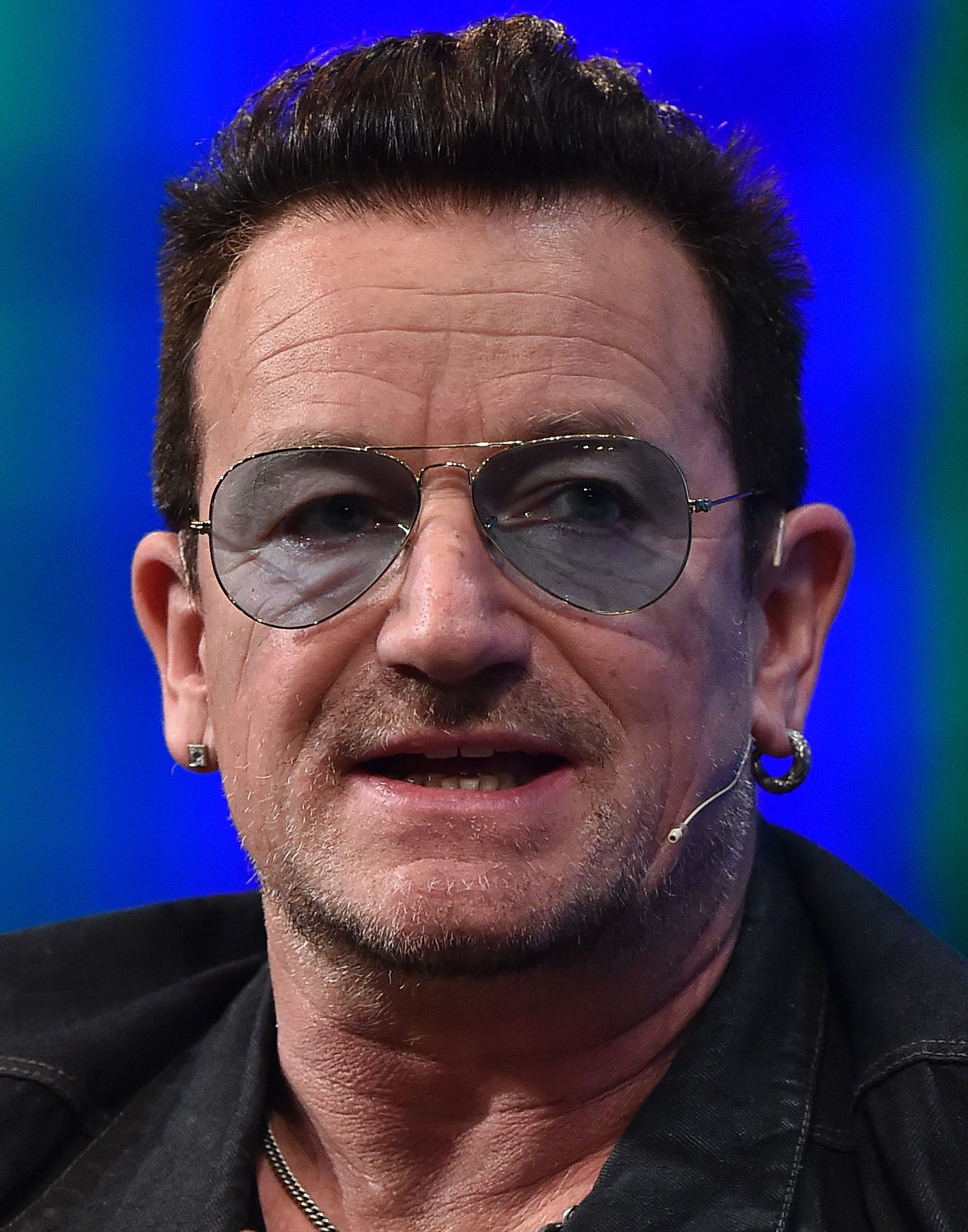 Photo of Bono: Irish rock musician, singer of U2