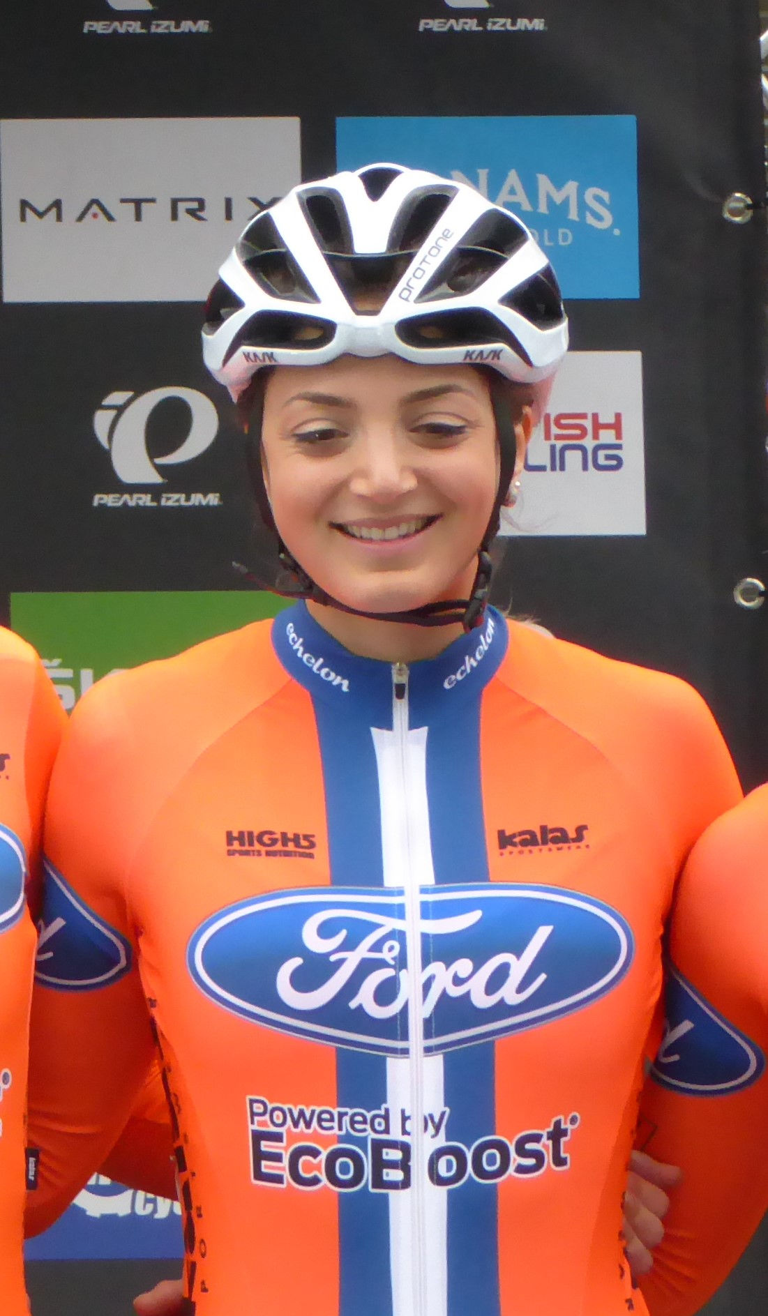 Photo of Charline Joiner: Scottish racing cyclist
