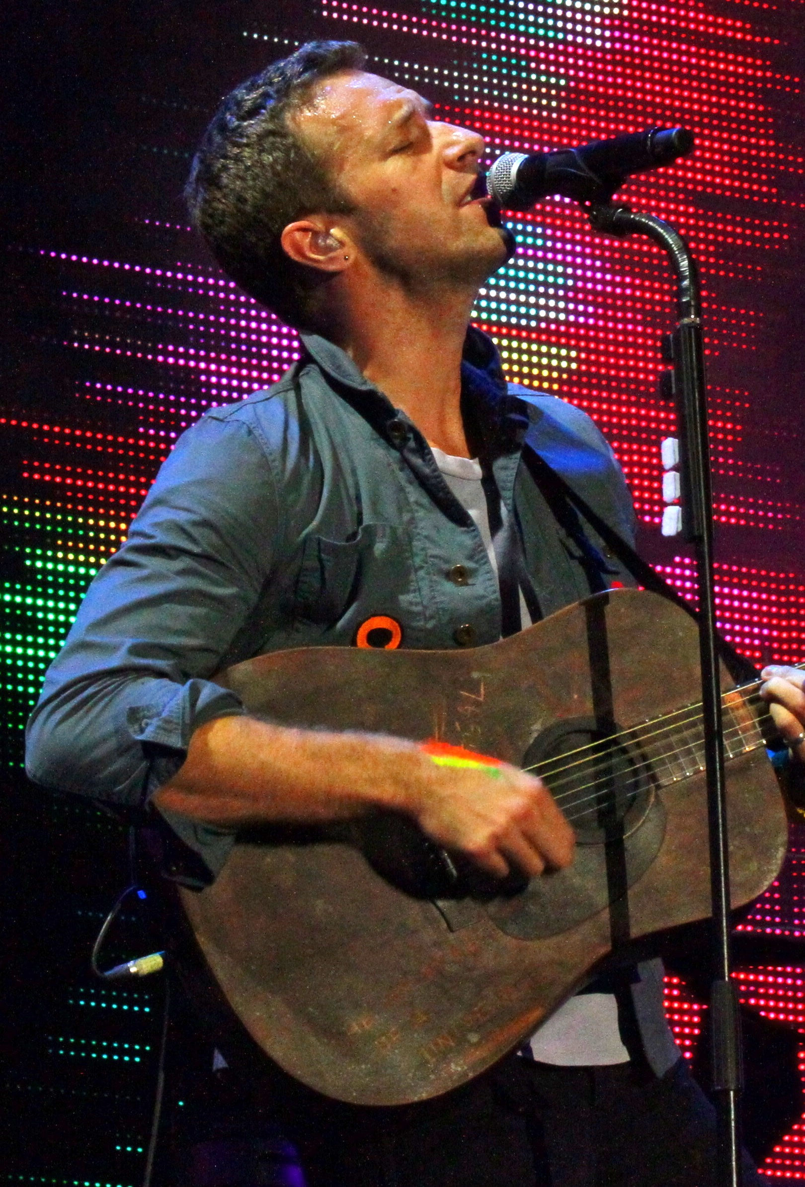 Photo of Chris Martin: Musician, co-founder of Coldplay