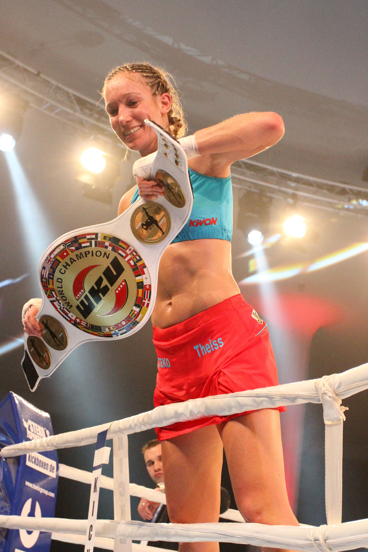 Photo of Christine Theiss: German kickboxer