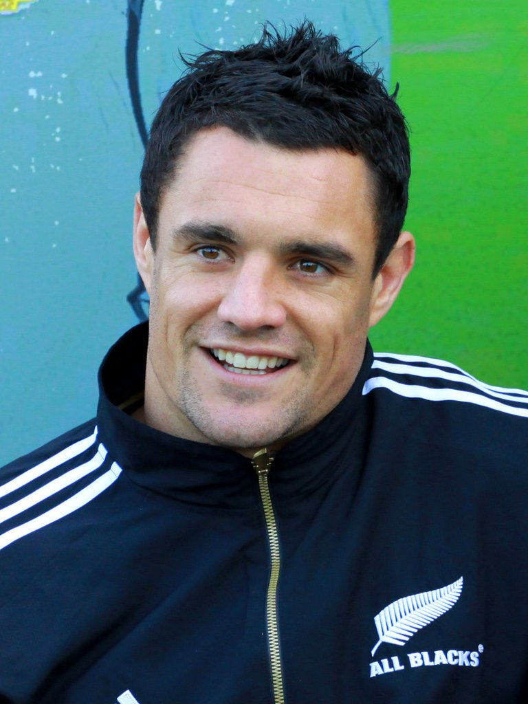 Photo of Dan Carter: New Zealand Rugby union footballer. 2005 International Rugby Board player of the year, 2015 World Rugby player of the year