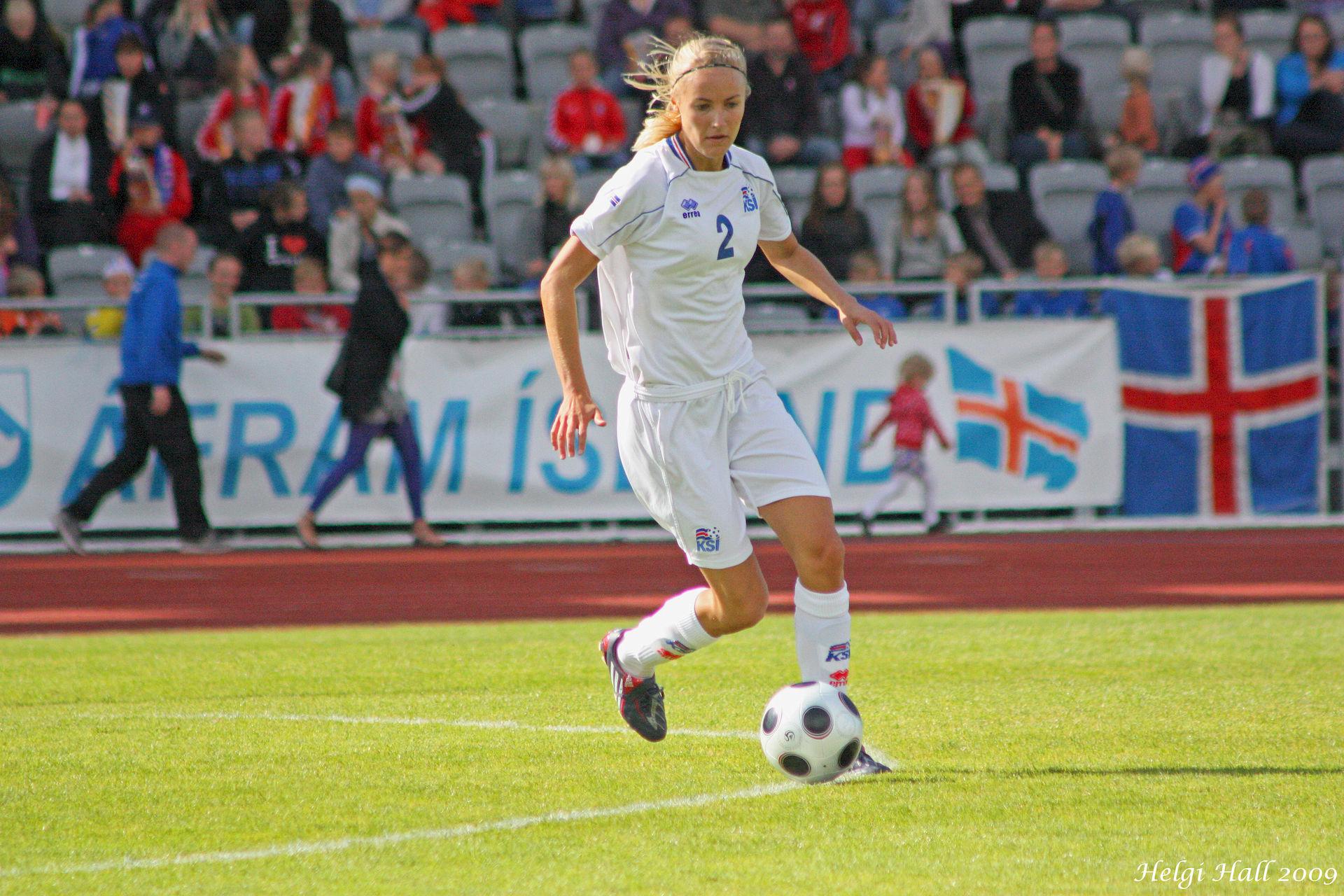 Photo of Guðrún Sóley Gunnarsdóttir: Footballer