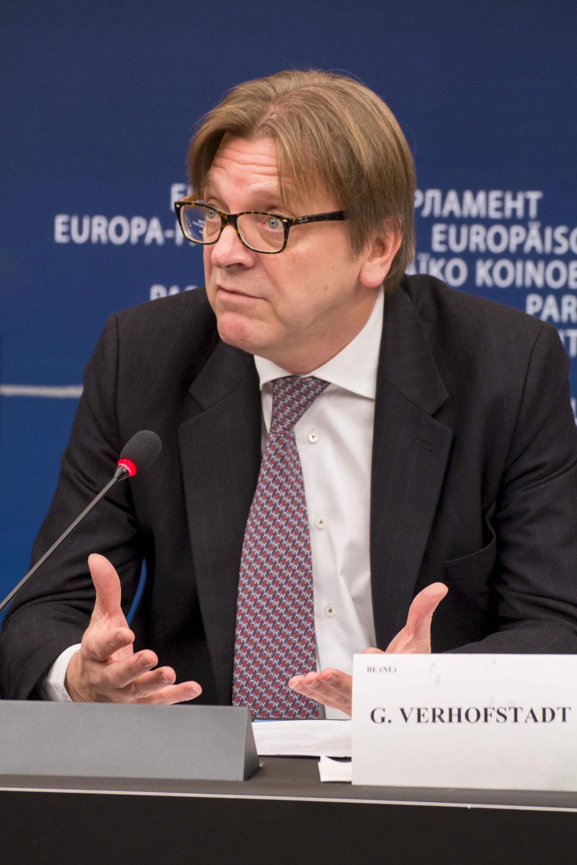Photo of Guy Verhofstadt: Former prime minister of Belgium