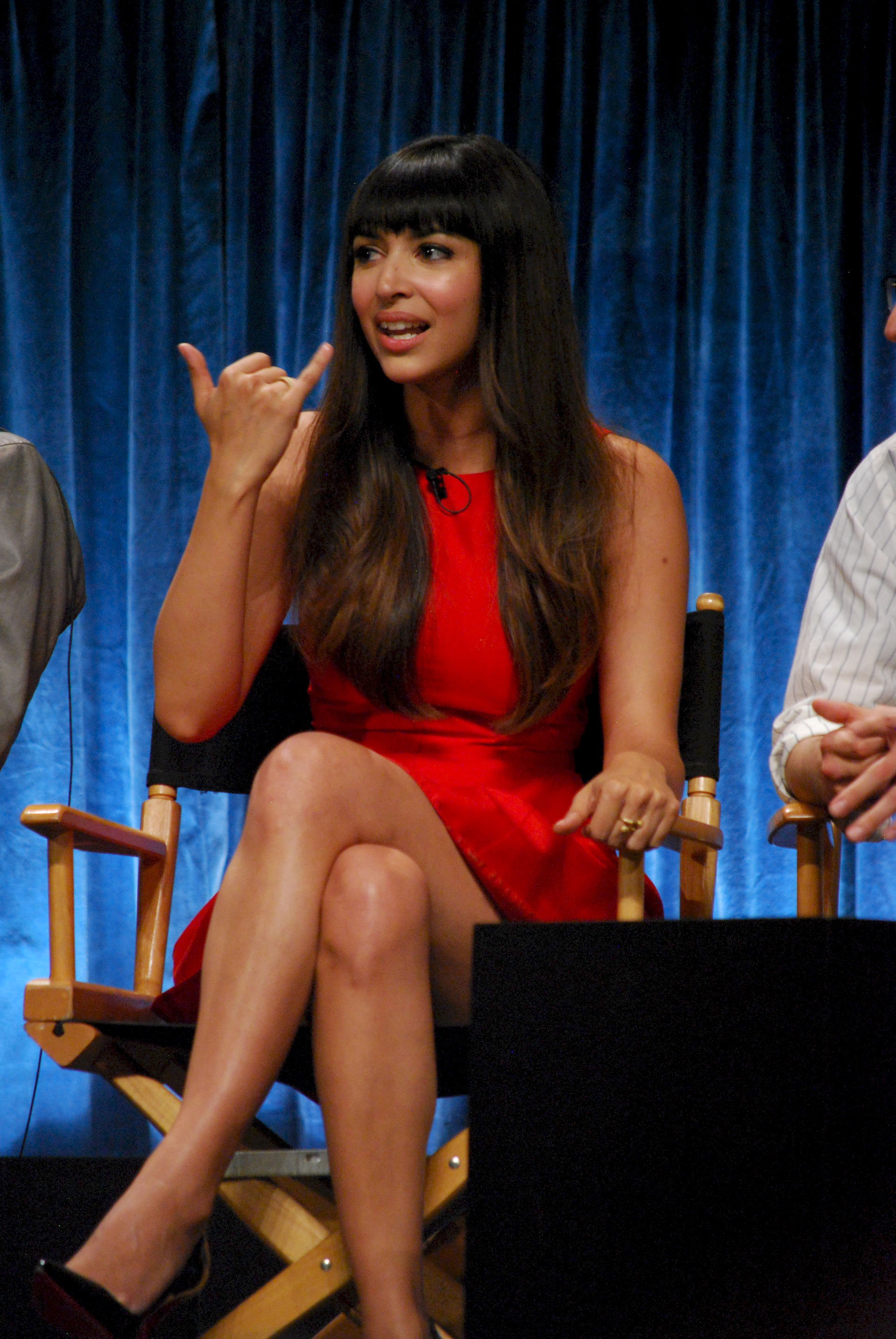 Photo of Hannah Simone: Canadian television host, actress and fashion model