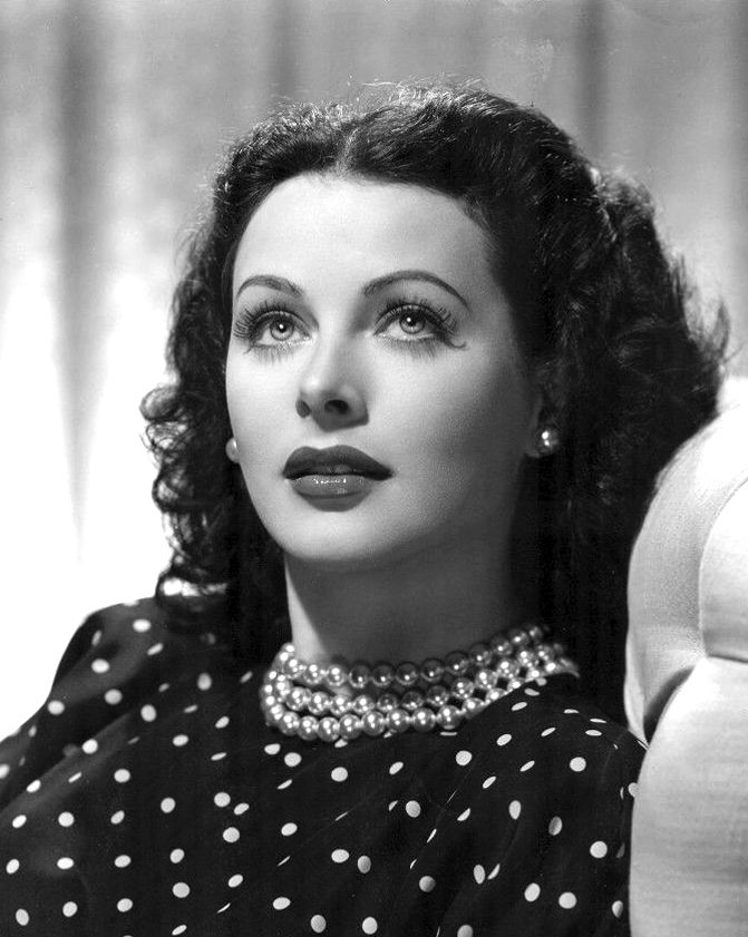 Photo of Hedy Lamarr: Austrian-American actress and co-inventor of an early technique for spread spectrum communications and frequency hopping