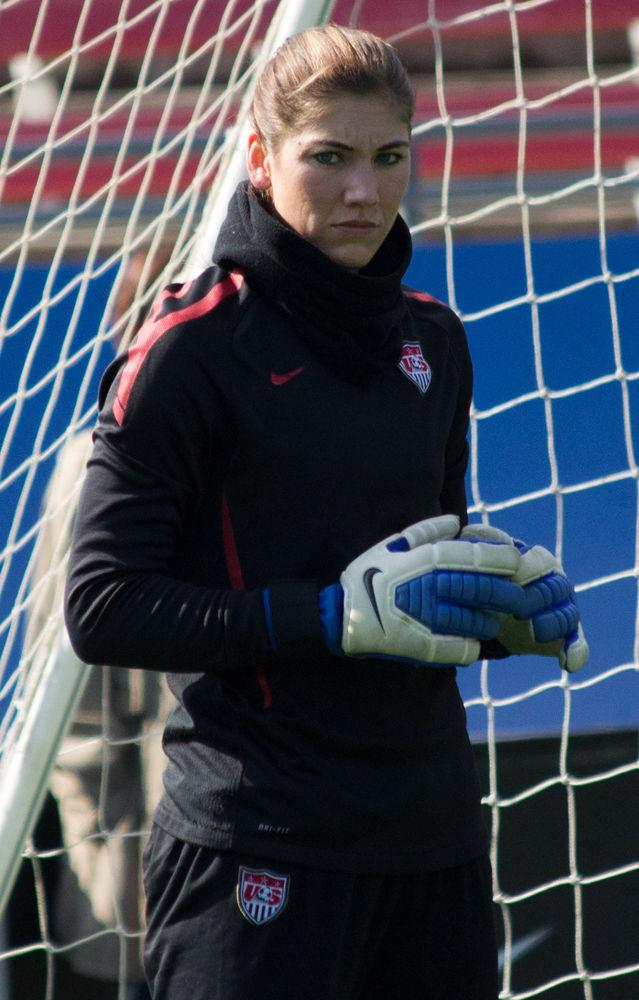 Photo of Hope Solo: American female soccer goal keeper