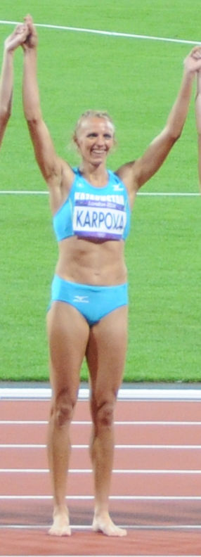 Photo of Irina Karpova: Kazakh heptathlete