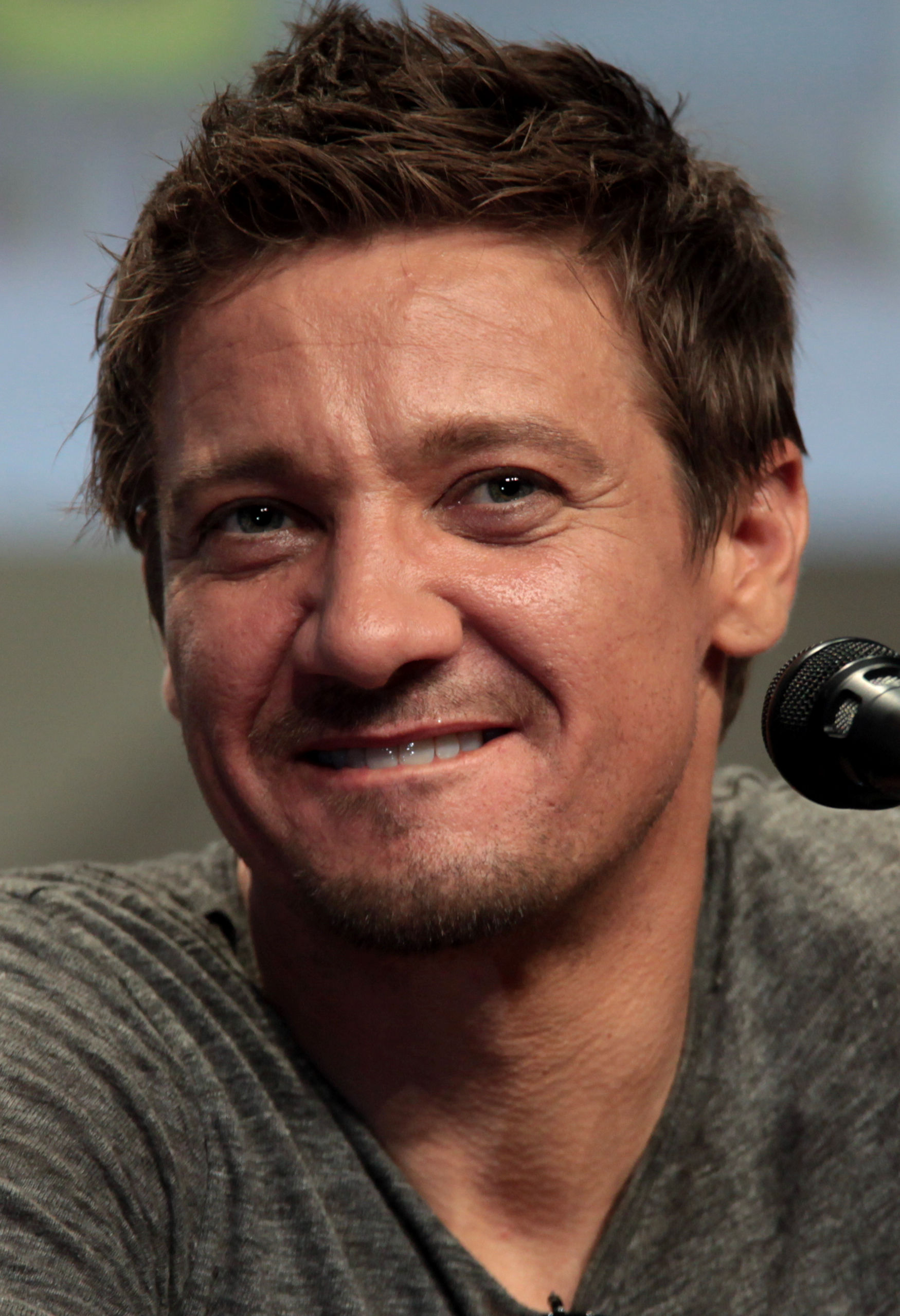 Photo of Jeremy Renner: American actor, singer-songwriter, film producer, former makeup artist, and musician