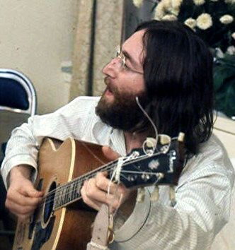 Photo of John Lennon: British musician, member of the Beatles