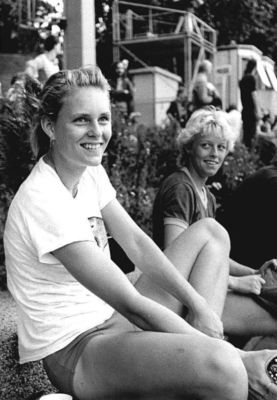 Photo of Katrin Krabbe: German sprinter
