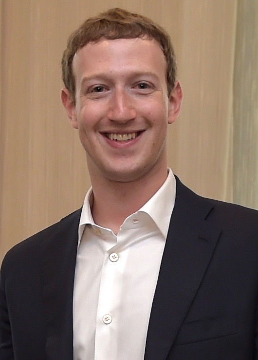 Photo of Mark Zuckerberg: Co-founder of social networking site Facebook