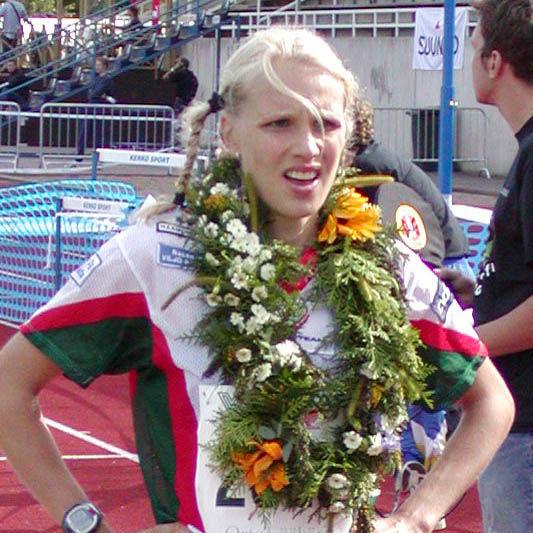 Photo of Minna Kauppi: Finnish orienteer