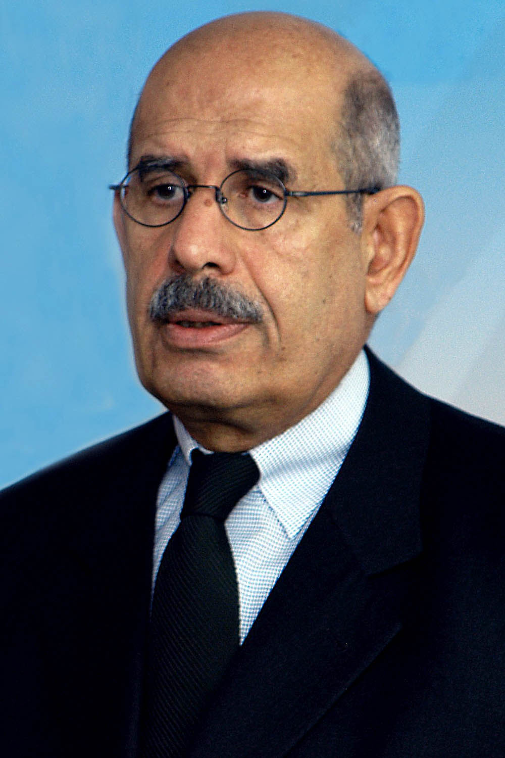 Photo of Mohamed ElBaradei: Egyptian law scholar and diplomat, former Director General of the International Atomic Energy Agency, and Nobel Peace Prize recipient
