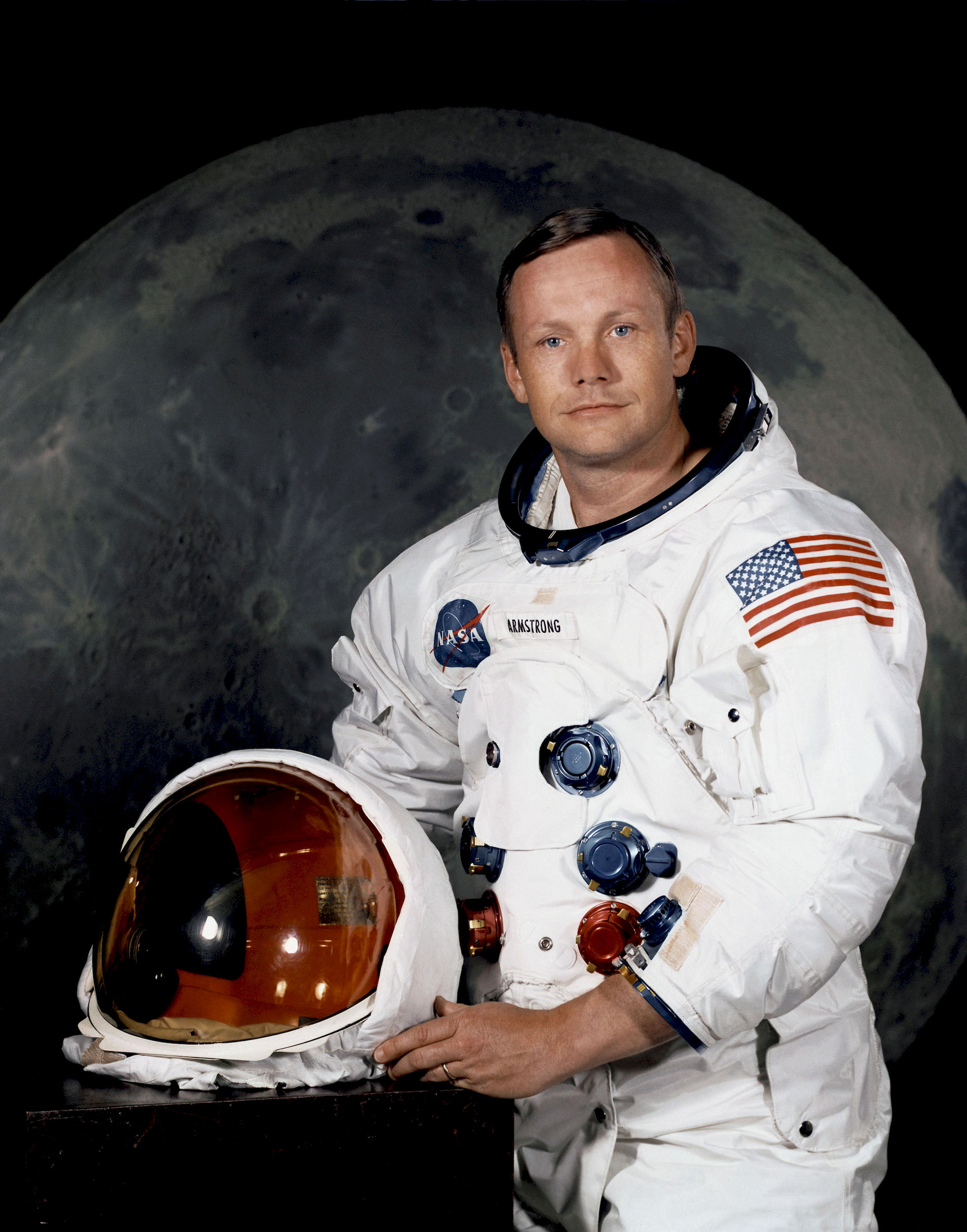 Photo of Neil Armstrong: American astronaut; first person to walk on the moon; Eagle Scout