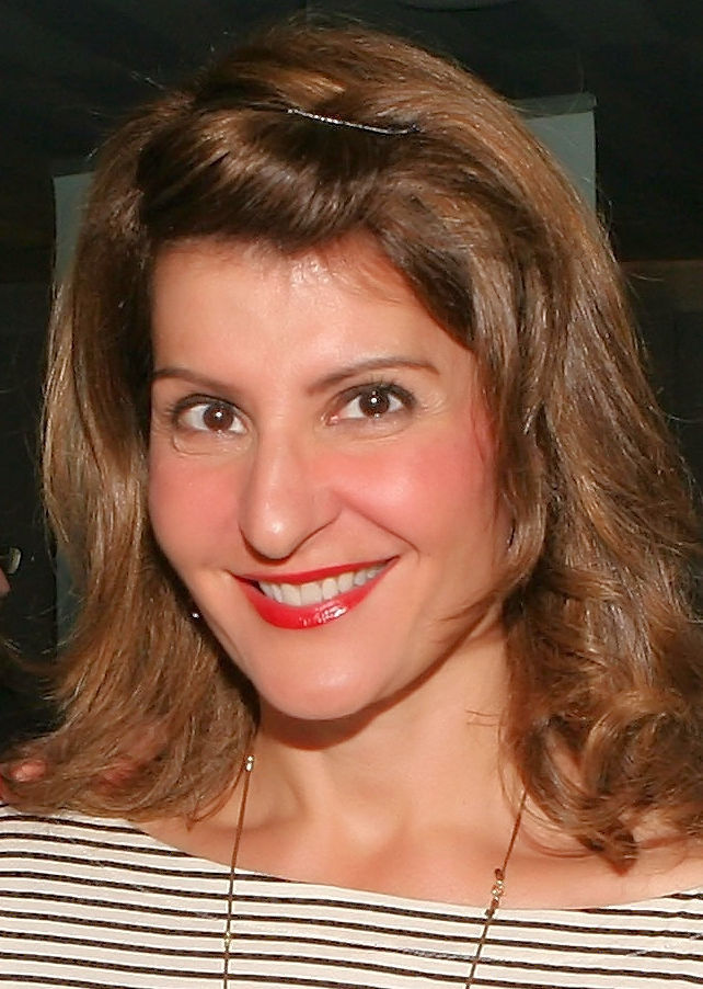 Photo of Nia Vardalos: Canadian-born American actress, screenwriter, director, and producer of Greek descent