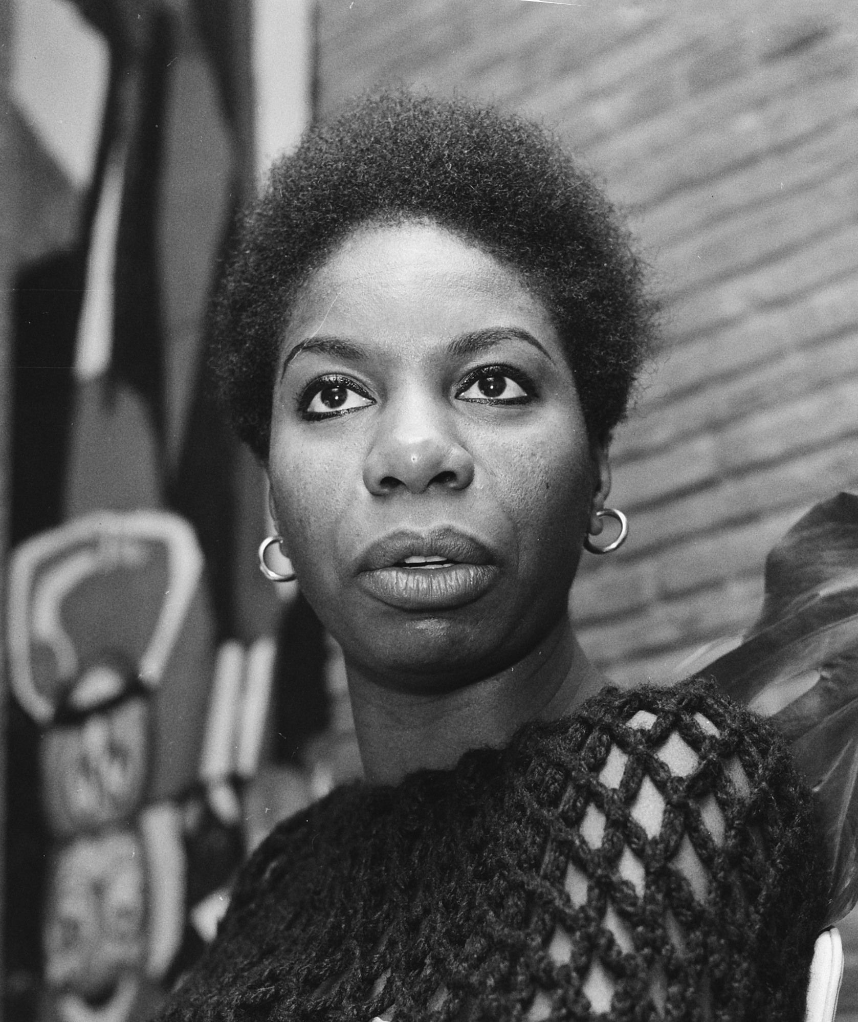 Photo of Nina Simone: American singer, songwriter, pianist, arranger, and civil rights activist