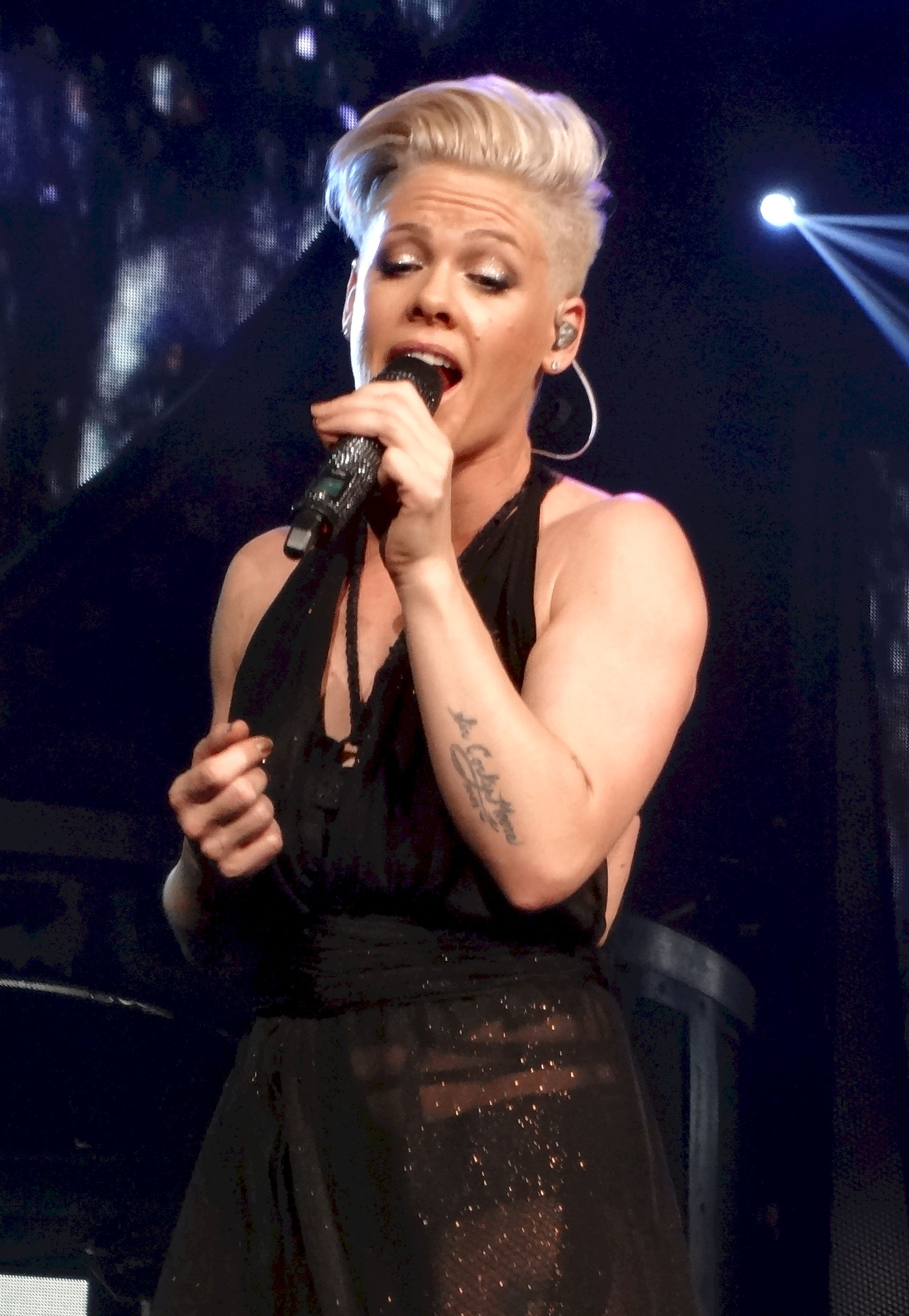 Photo of Pink (singer): American singer, songwriter, and actress
