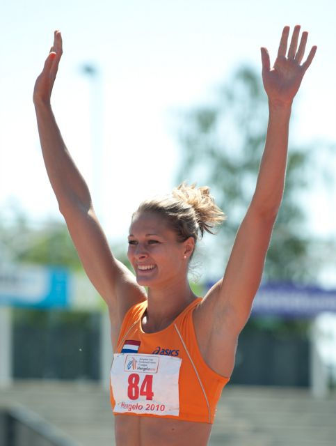 Photo of Remona Fransen: Dutch athlete specialising in multi-eventing disciplines.