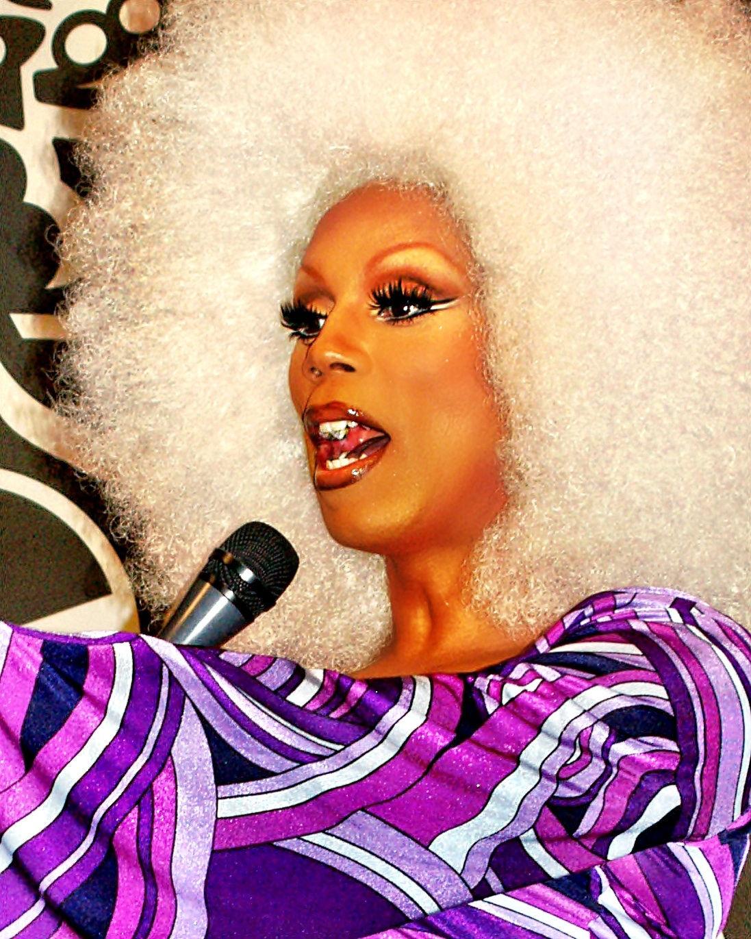 Photo of RuPaul: African American actor, musician, drag queen