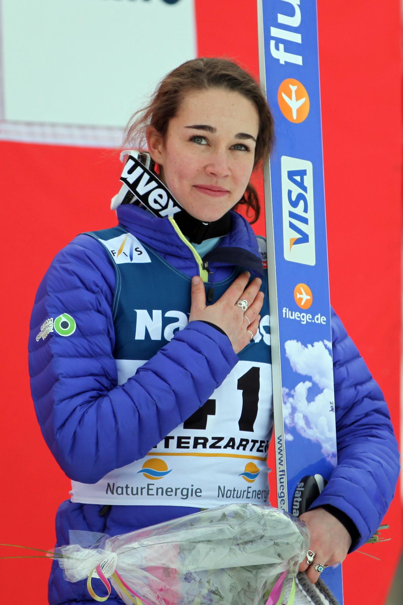 Photo of Sarah Hendrickson: American ski jumper