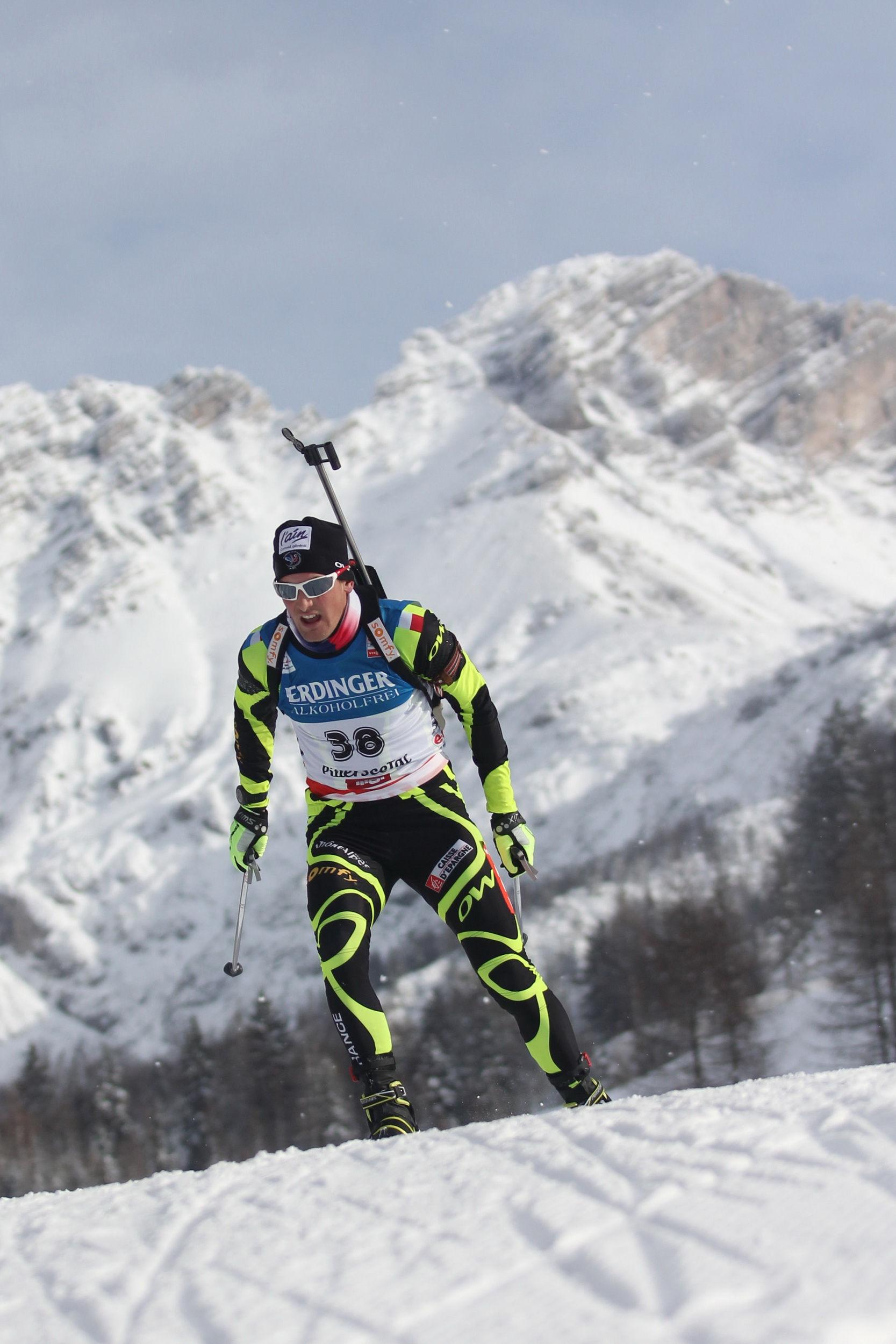 Photo of Simon Desthieux: French biathlete