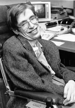 Photo of Stephen Hawking: British theoretical physicist, cosmologist, and author