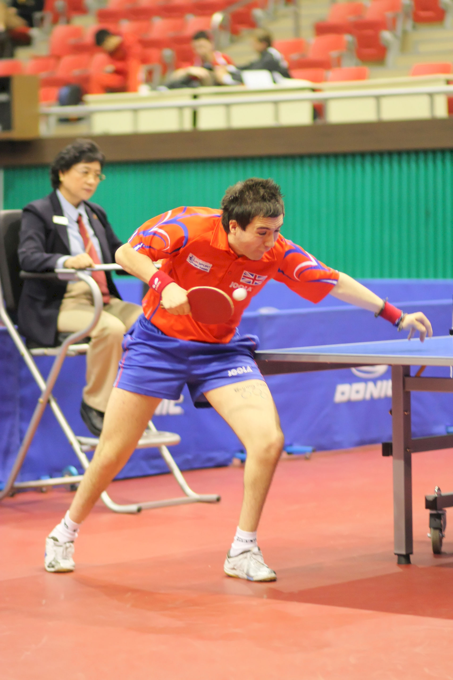 Photo of Will Bayley: British table tennis player
