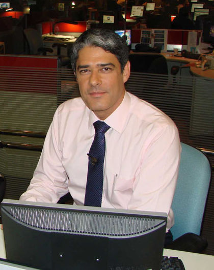 Photo of William Bonner (newscaster): Brazilian newscaster and journalist.