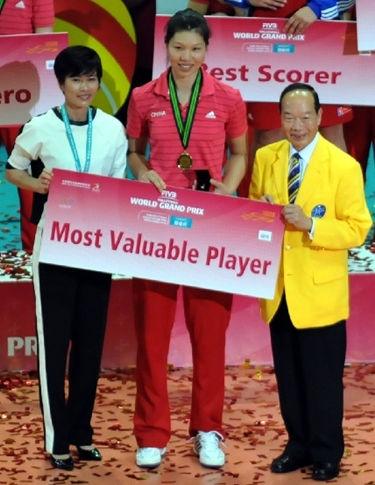 Photo of Xu Yunli: Female Chinese volleyball player