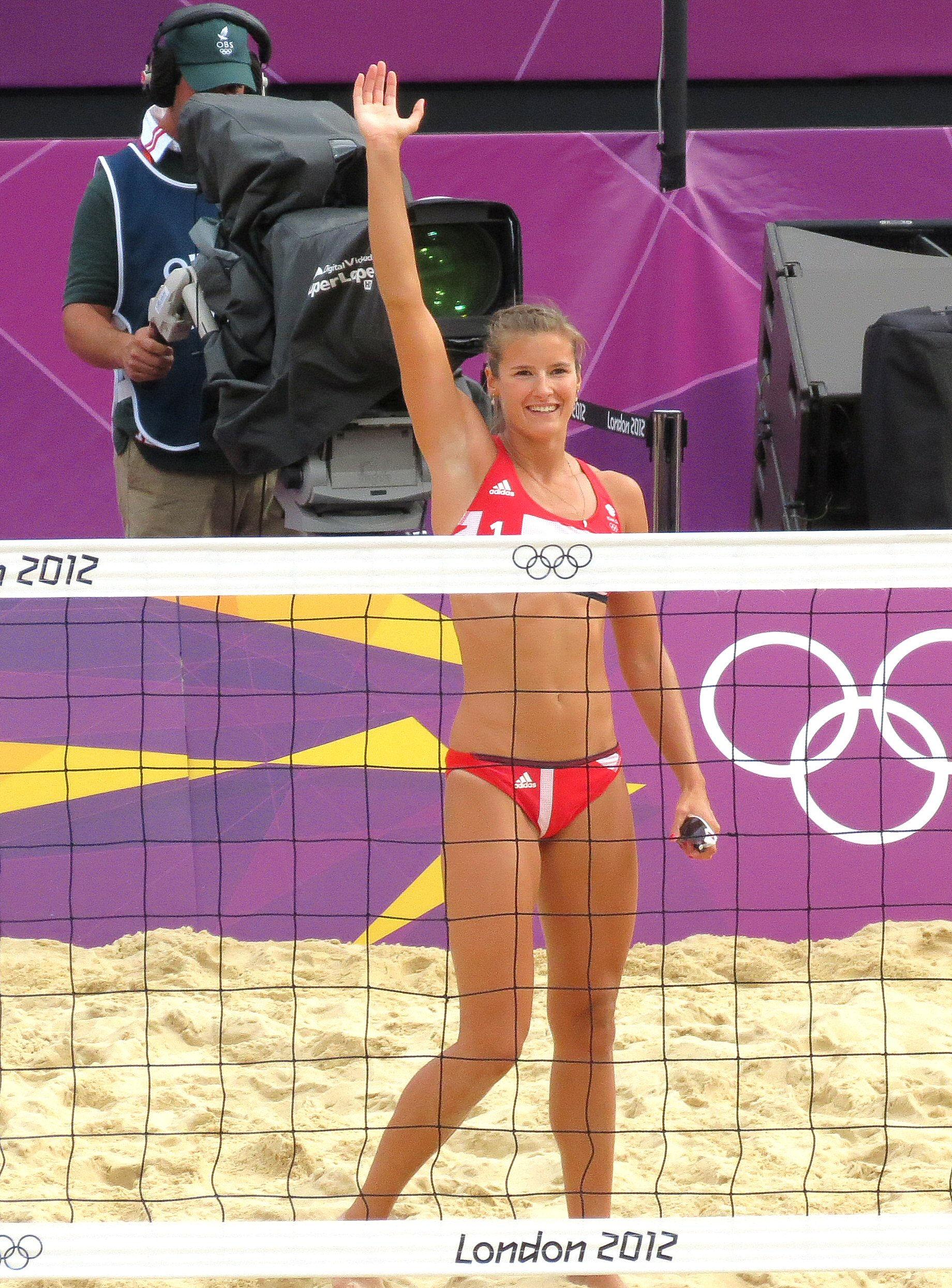 Photo of Zara Dampney: British beach volleyball player